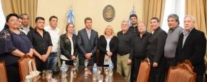 Autoridades del Sindicato Empleados de Comercio visitaron al gobernador Uñac