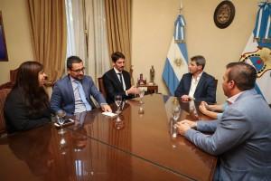 El gobernador Uñac recibió al presidente de la Asociación de Hoteles de Turismo