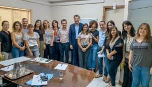 El ministro de Desarrollo Humano visitó a los equipos de Niñez y Adultos Mayores