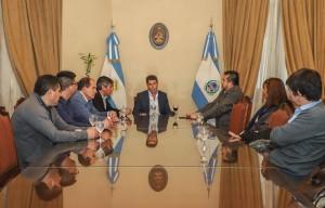 El gobernador recibió la visita de dirigente nacional de trabajadores sanitaristas