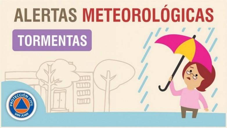 Alerta meteorológica N°58/19 - Lluvias y tormentas