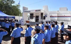 Baistrocchi inauguró la nueva sede de la Subcomisaría Médano de Oro