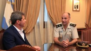El jefe de la Agrupación X San Juan de Gendarmería saludó a Uñac