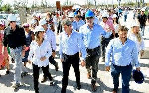 El gobernador recorrió las obras del predio que albergará a la FNS2019