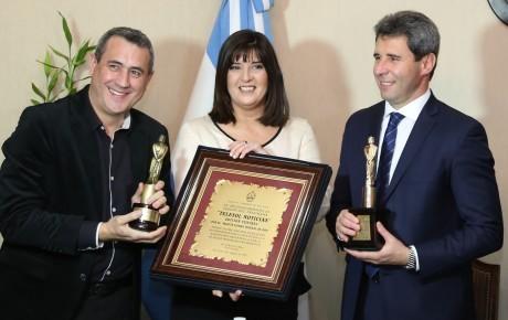Sergio Uñac recibió a los ganadores del Martín Fierro de Oro Federal