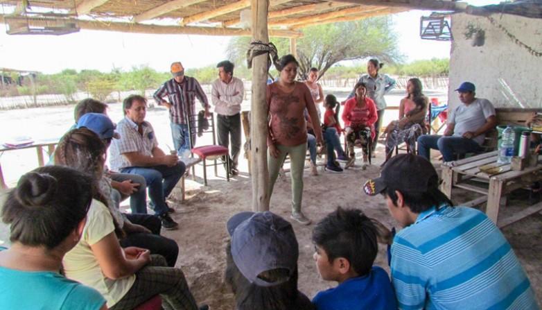 Desarrollo Humano abordó a familias huarpes en las Lagunas de Guanacache