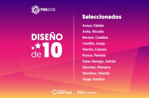 Los 10 seleccionados que crearán una línea de productos representativa del tema de la FNS 2018