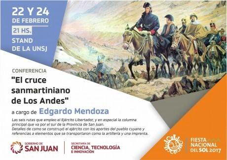 """Segunda edición: Charla abierta """"El cruce sanmartinano de los Andes"""" a cargo de Edgardo Mendoza"""