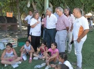 Autoridades provinciales visitaron la Colonia de Parque Norte