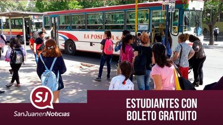 Estudiantes con boleto gratuito | #SanJuanEnNoticias