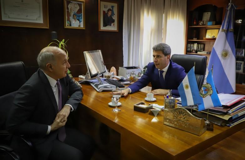 Sergio Uñac recibió a Ricardo Lorenzetti, ministro de la Corte Suprema de Justicia