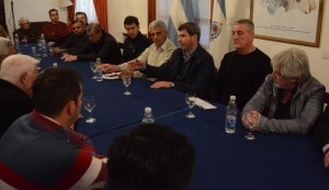 Autoridades y dirigentes de la Liga Sanjuanina de Fútbol saludaron al gobernador