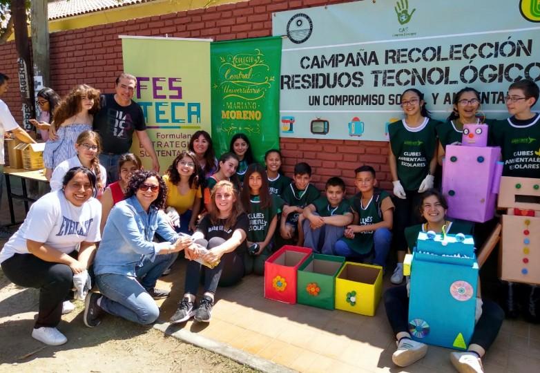 Ambiente y el Central Universitario recolectaron 18 toneladas de RAEE