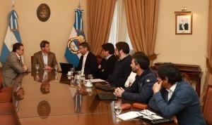 Sergio Uñac dialogó con ejecutivos de la Minera Andina Del Sol