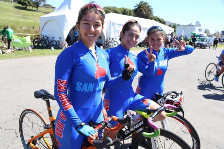 Sanjuaninas se adueñaron del podio en ciclismo