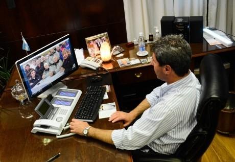 Videoconferencia con excombatientes