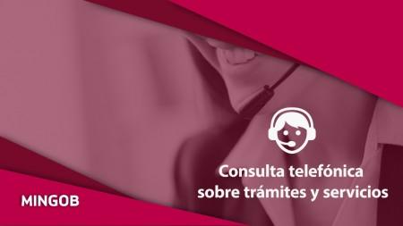 MinGob, consulta de tramites y servicios por teléfono
