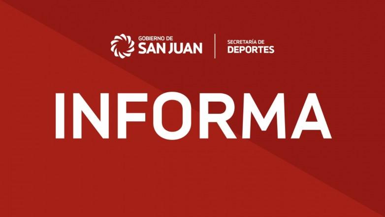 Deportes emitió un comunicado sobre la postergación de espectáculos deportivos