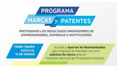 Hasta el 15 de marzo podés presentar tu proyecto de marcas y patentes