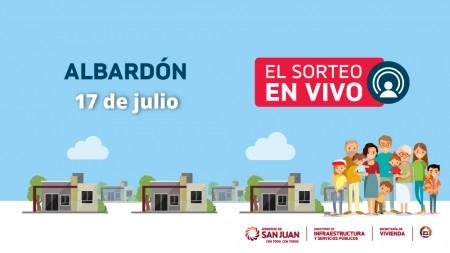 Sorteo provincial de Vivienda: Albardón inaugura la segunda etapa