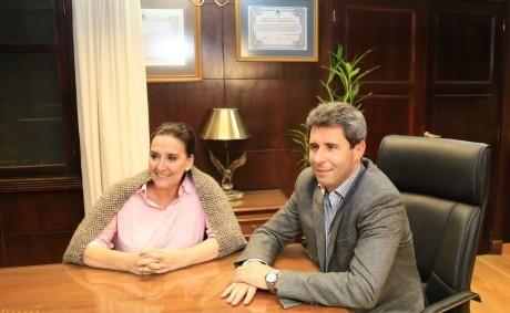 La vicepresidente Michetti presentó sus saludos al gobernador Uñac