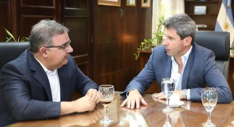 El intendente de San Fernando del Valle de Catamarca visitó al gobernador Sergio Uñac