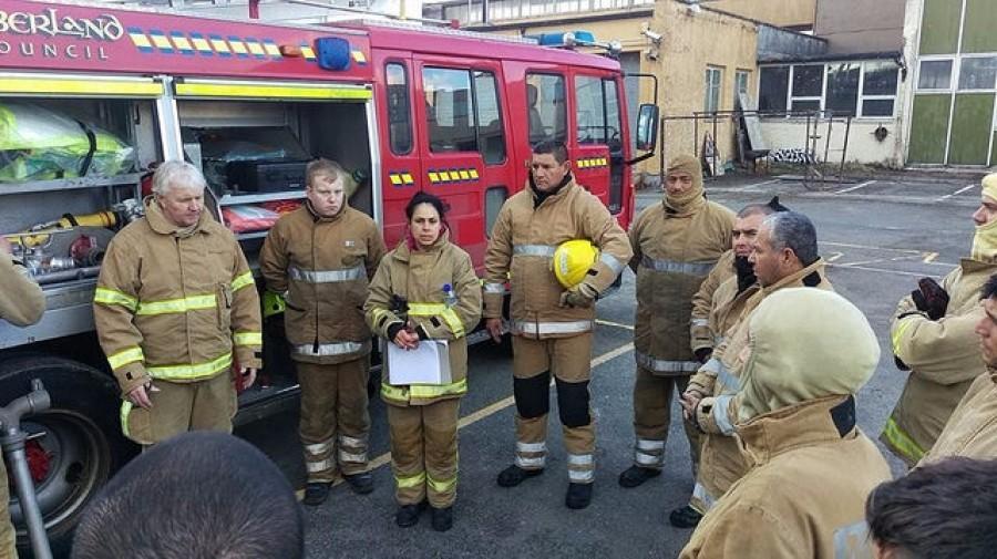 Personal de Bomberos, Bomberos Voluntarios y Protección Civil se capacita en Escocia