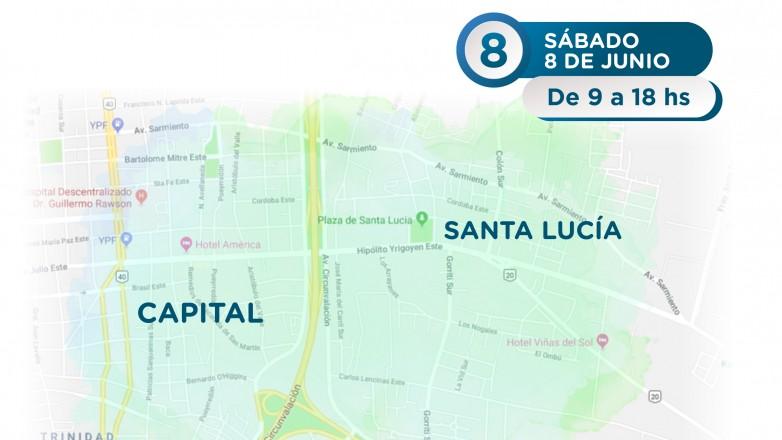 Este sábado se interrumpirá el servicio de agua potable en zonas de Capital y Santa Lucía
