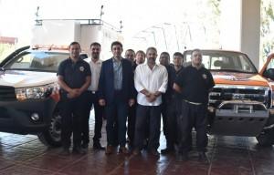 Presentaron las camionetas que trabajarán en el operativo de seguridad de la FNS