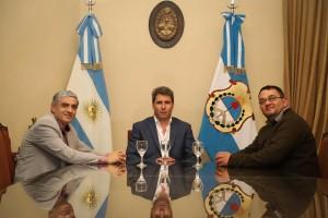 El gobernador recibió la visita del diputado nacional Martiarena