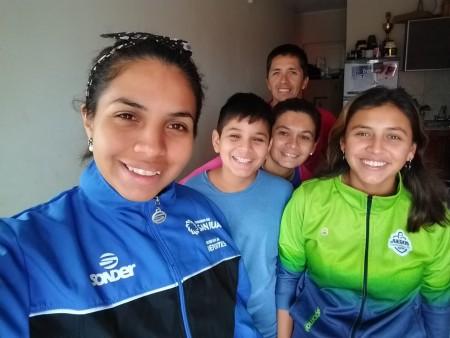 Maribel Aguirre, una campeona que entrena en casa