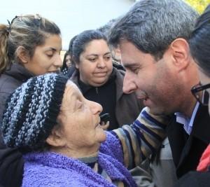 El gobernador Sergio Uñac visitó el Operativo de Abordaje Territorial en Chimbas