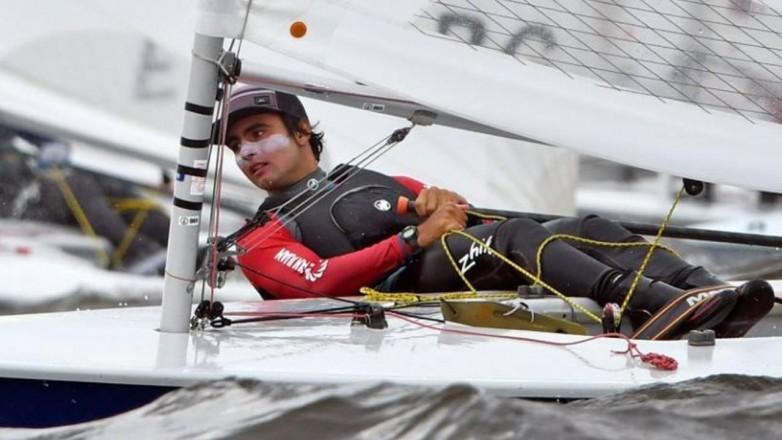 Mateo Maldonado, con el deporte náutico desde la cuna