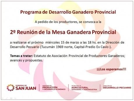 Segunda Reunión de la Mesa Ganadera Provincial 2017