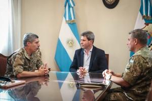 El coronel mayor Osvaldo Quiñones, comandante de la VIII Brigada de Montaña, fue recibido por Uñac