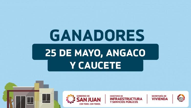 Sorteo Provincial de Vivienda: ganadores en 25 de Mayo, Angaco y Caucete