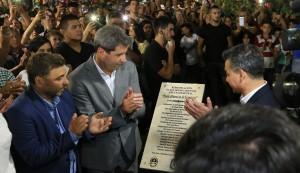 Inauguraron la remodelada plaza de Chimbas y la peatonal Paula Albarracín de Sarmiento