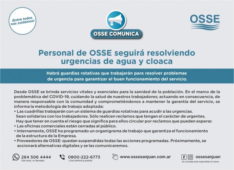 Estas son las vías de comunicación con OSSE