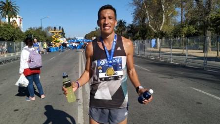 Diego Elizondo tuvo una destacada actuación en la Maratón de Sevilla