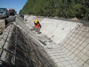 Avanzan las obras en el canal Benavídez