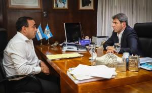 El gobernador recibió en Casa de Gobierno al intendente iglesiano