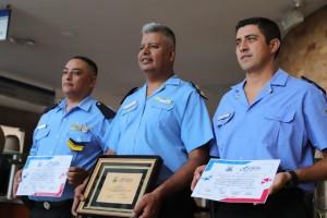 Realizaron distinciones en la  Policía de San Juan por su actuación en la VSJ