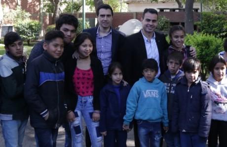 Chicos de la comunidad Huarpe visitaron Casa de Gobierno