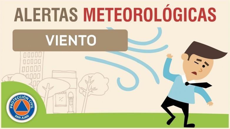 Alerta meteorológica N° 46/19 - Viento sur