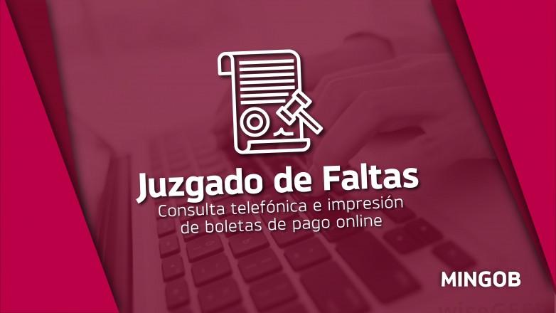 Consultas e impresión de boletas online en el Juzgado de Faltas