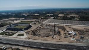 La construcción del imponente velódromo ya está en marcha