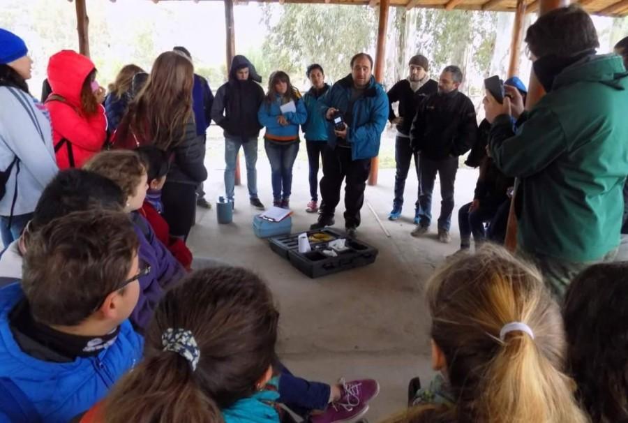 El Parque de la Biodiversidad recibió a alumnos universitarios para realizar un taller de Laboratorio