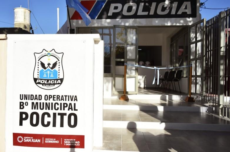 El Mingob inauguró una nueva unidad policial en Pocito