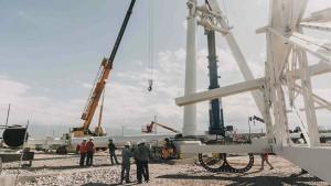 Con 11 columnas colocadas, la obra del Velódromo alcanza un 21% de avance