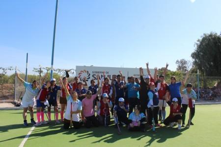 Exitoso encuentro inclusivo de hockey sobre césped en Albardón